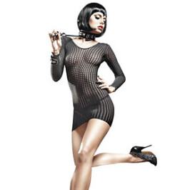 Long Sleeve Fishnet Chemise