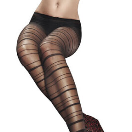 Black Horizontal Striped Pantyhose
