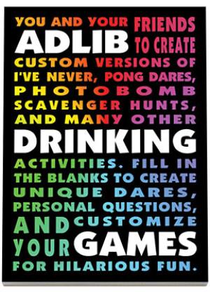 Adlib Drinking Game