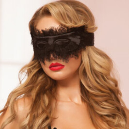 Satin and Eyelash Lace Mask