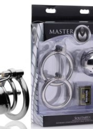 Master Series Solitary Plus Extreme Confinement Cage with Cum-Thru Plug