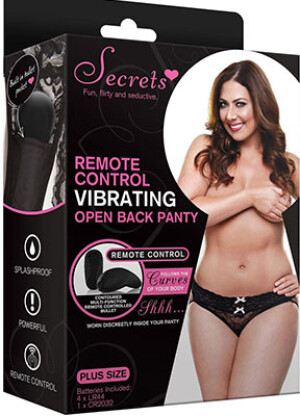Secrets Remote Control Vibrating Open Back Panty
