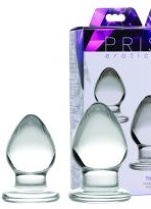 Prisms Triplets 3 Piece Glass Anal Plug Kit