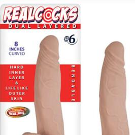 "Real Cocks Dual Layered 8"""