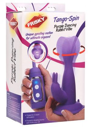 Frisky Tango Spin Purple Vibrating Rabbit Vibe