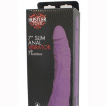 "7"" Slim Anal Vibrator With 7 Functions"