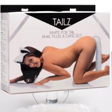 Tailz White Fox Tail Anal Plug & Ears Set