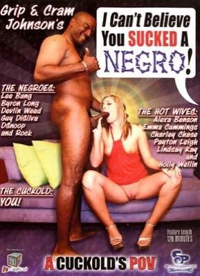 I Can't Believe You Sucked a Negro